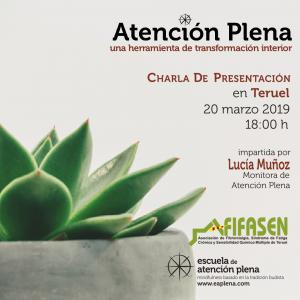 """Charla de Presentación en Teruel @ Asociación Fibromialgia Teruel Centro Social """"Encarna Esteban Fabre"""" Centro Social de el Arrabal"""