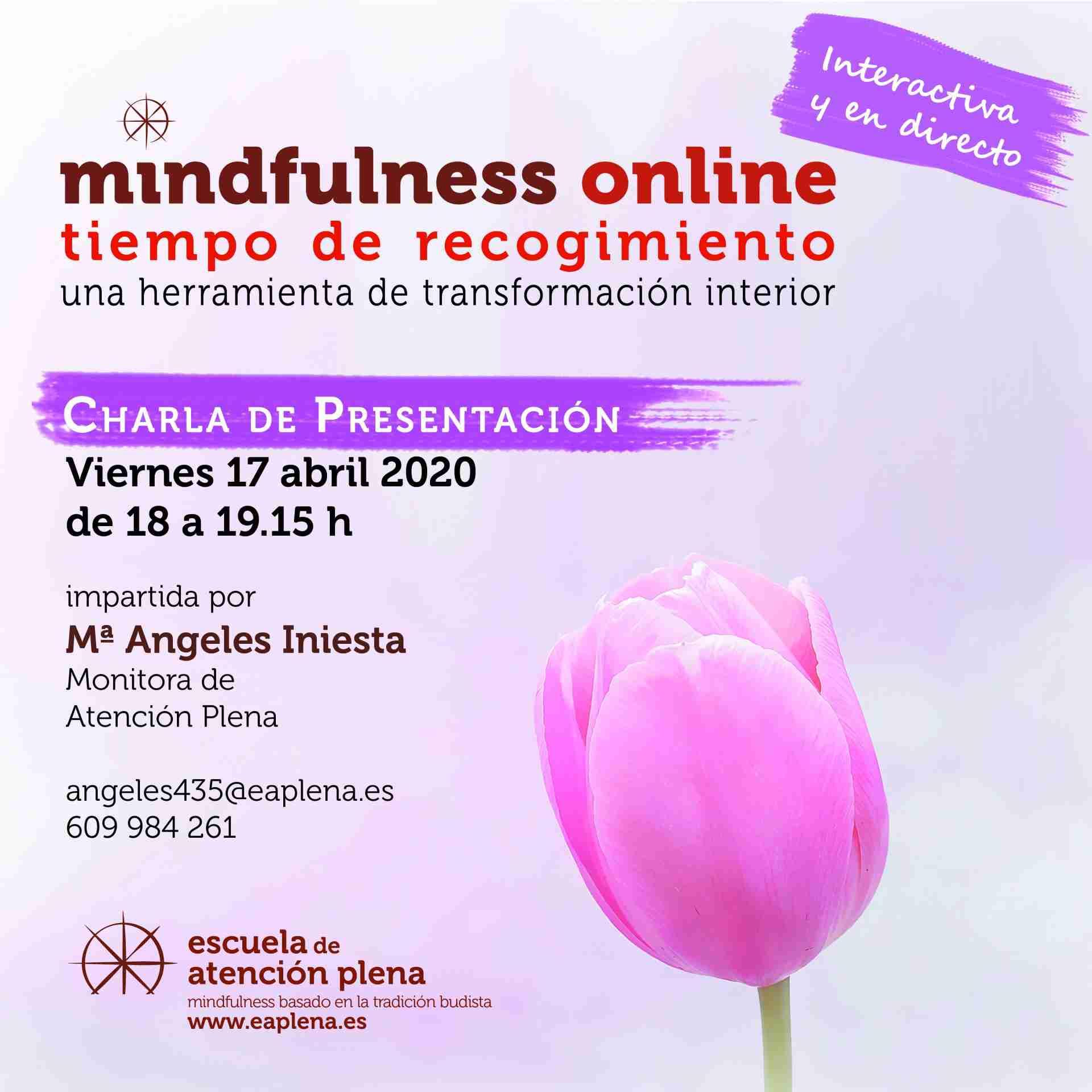 Charla de Presentación online Iniesta Bonillo Mª Angeles 17-04-2020