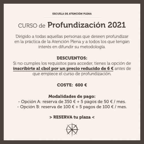 Curso de Profundización en MBTB y Formación de Monitores de Atención Plena 2021